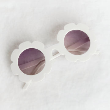 Baby Flower Sunglasses - Cool White