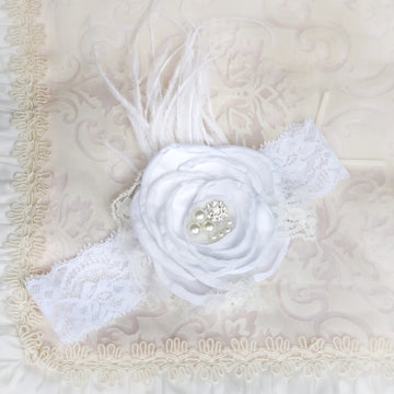 Swan Princess Satin & Lace Baby Headband