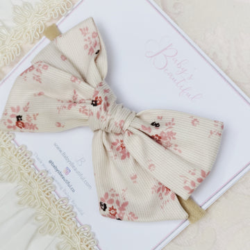 The Prettiest Floral Cotton Knot Bow Headband