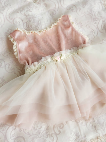 Velvet Rose Leotard Tutu in Dusty Rose & Ivory
