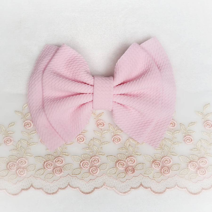 Double Layer Perfect Pink Bow Headband