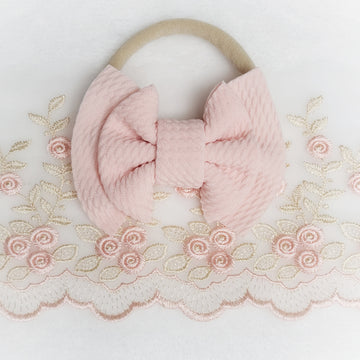 Mini Double Layer Light Pink Headband
