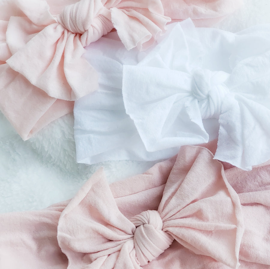 The Soft & Messy Baby Bow Summer Headbands