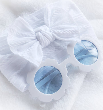 Baby Flower Sunglasses - White Ocean Breeze