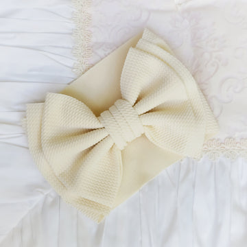 NEW Oversized Bow Headwrap in Cream