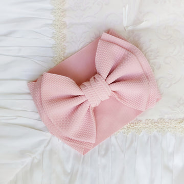 NEW Oversized Bow Headwrap in Pretty Pink