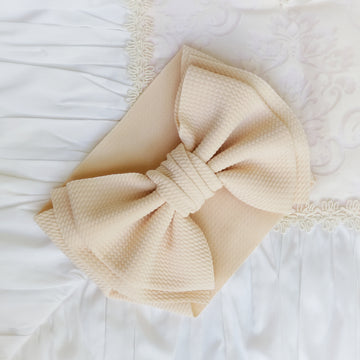 NEW Oversized Bow Headwrap in Light Blush