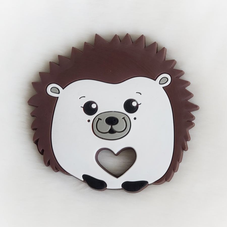 Hedgehog Silicone Teether Brown Style 1
