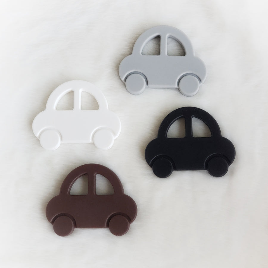 Cartoon Car Teether in Gray