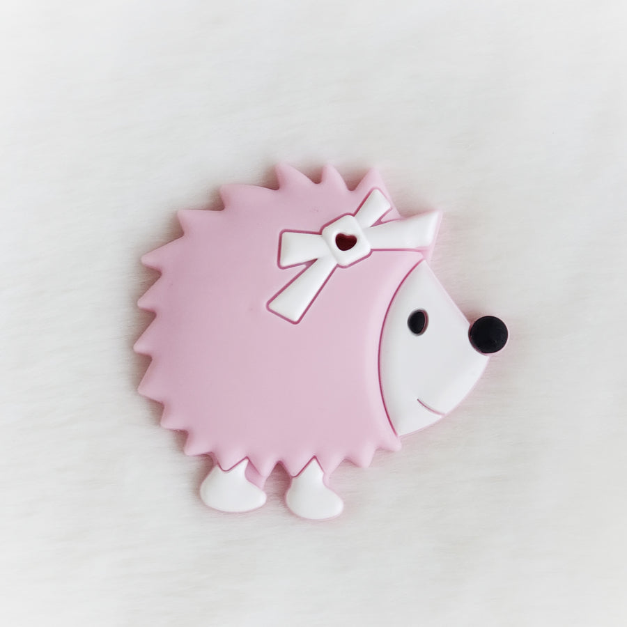 Hedgehog Silicone Teether Pink Style 2
