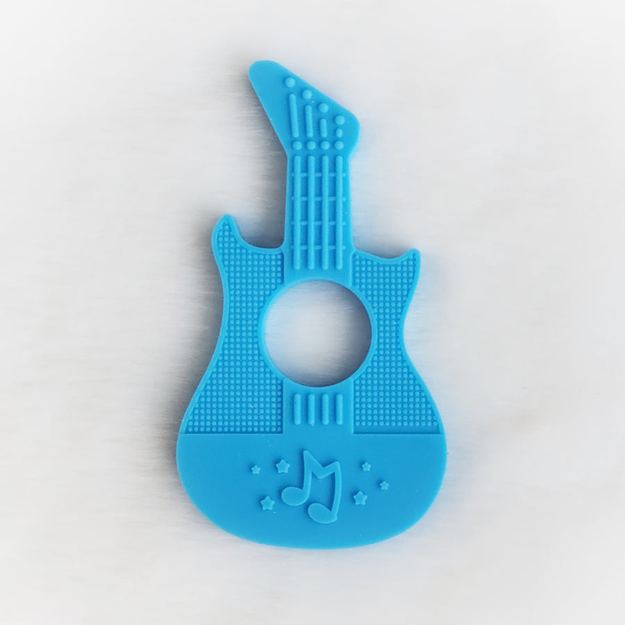 Guitarist Silicone Teether in Blue