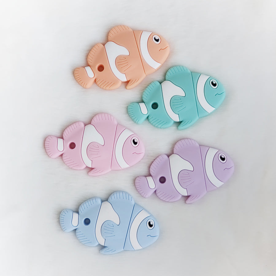 Fish Silicone Teether in Pink