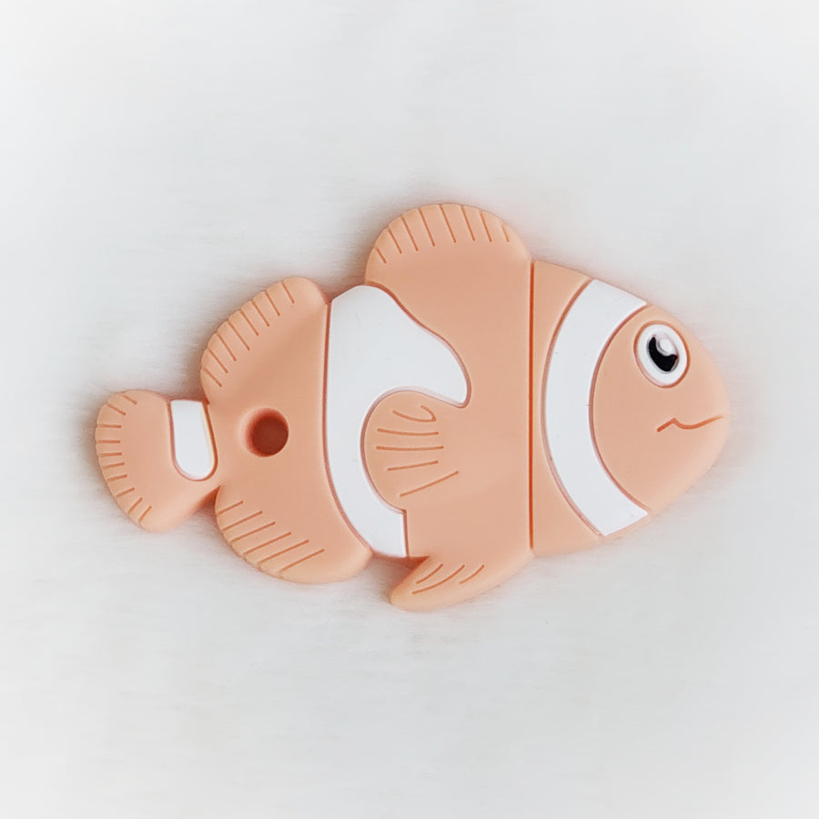Fish Silicone Teether in Orange