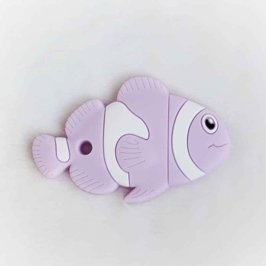 Fish Silicone Teether in Lilac