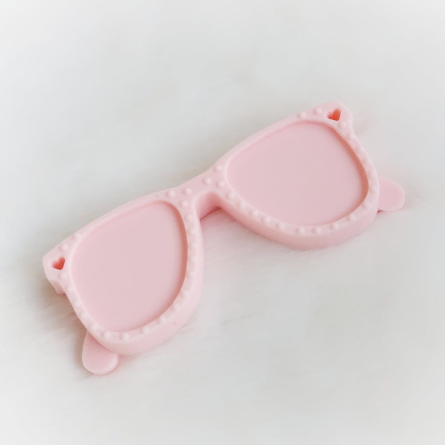 Sunglasses Silicone Teether in Pink