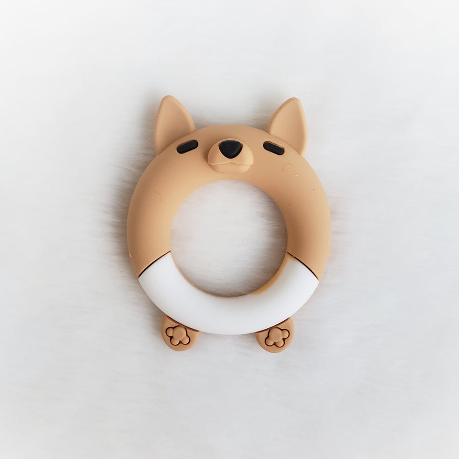 Fox Silicone Teether Ring Smaller Size