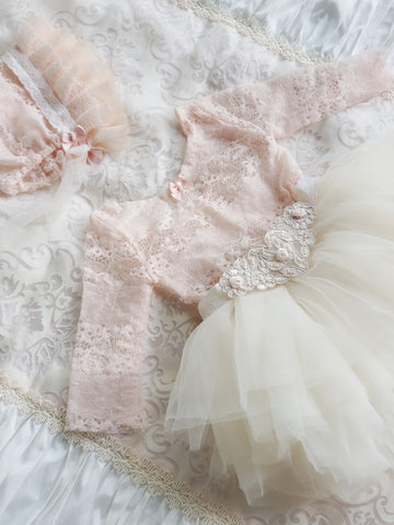 Magical Fairy/Swan Princess Lace Tutu Newborn Full Outfit - Rare Limited Design