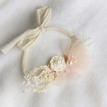 Harvest Blush Headband Tie Back