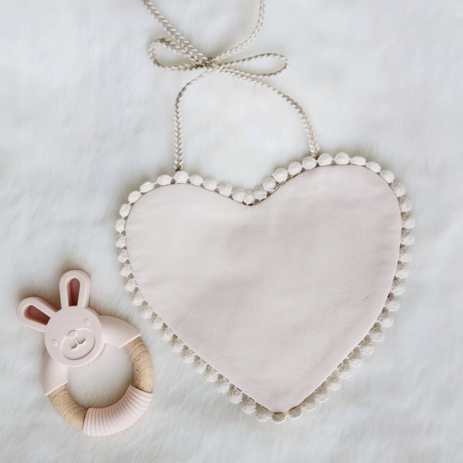 Oh My Heart! The Most Darling Pink & Floral Cotton Reversible Bib