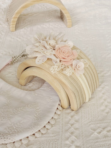 Pretty Lace Bouquet Headband in Ivory & Blush