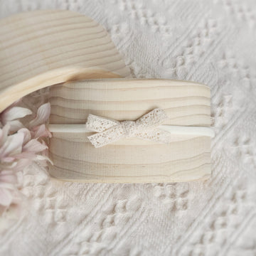Little Sweet Natural Cotton Lace Bow Headband