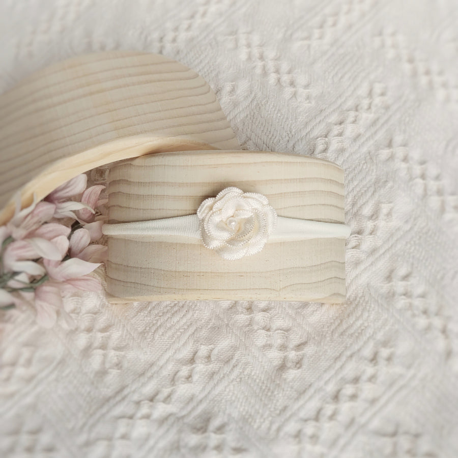 Little Sweet Ivory Flower Headband