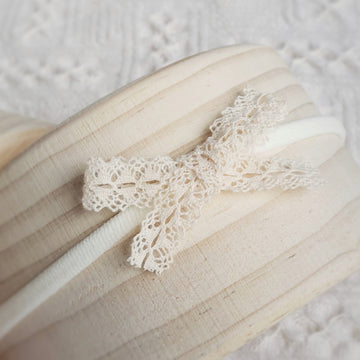 Little Sweet Natural Cotton Fancy Lace Bow Headband