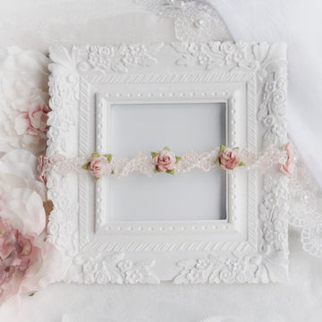 The Adaline Rose Lace Headband