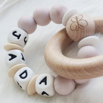 Beautiful Baby Keepsake Personalized Teething Rings