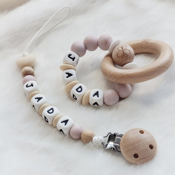 Beautiful Baby Keepsake Customized Pacifier Clip