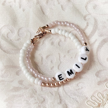 Baby Keepsake Customized Bracelets - 14kt Rose Gold Plated