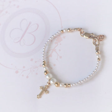 The Beautiful Baptismal Keepsake Baby Bracelet ~ 14Kt Gold Fill
