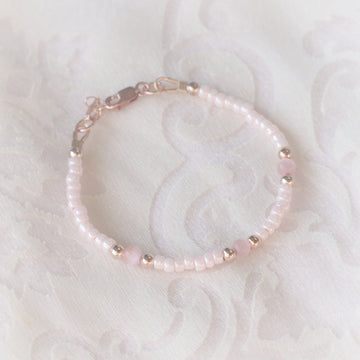 The Beautiful Eternity Dainty Baby Bracelet - 14Kt Rose Gold Fill