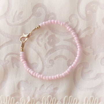 The Pretty Pink Dainty Baby Bracelet - 14Kt Gold Plated