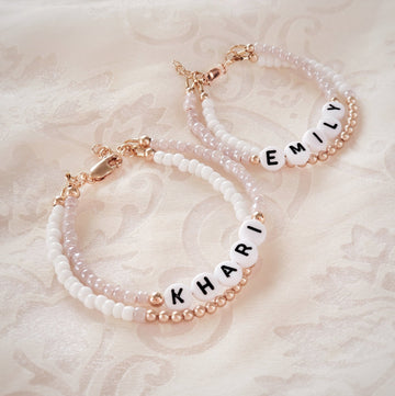 Baby Keepsake Personalized Bracelets - 14kt Rose Gold Filled