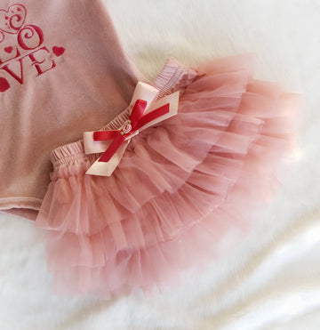 Valentines Cotton & Tulle Tiered Tutu Bloomers