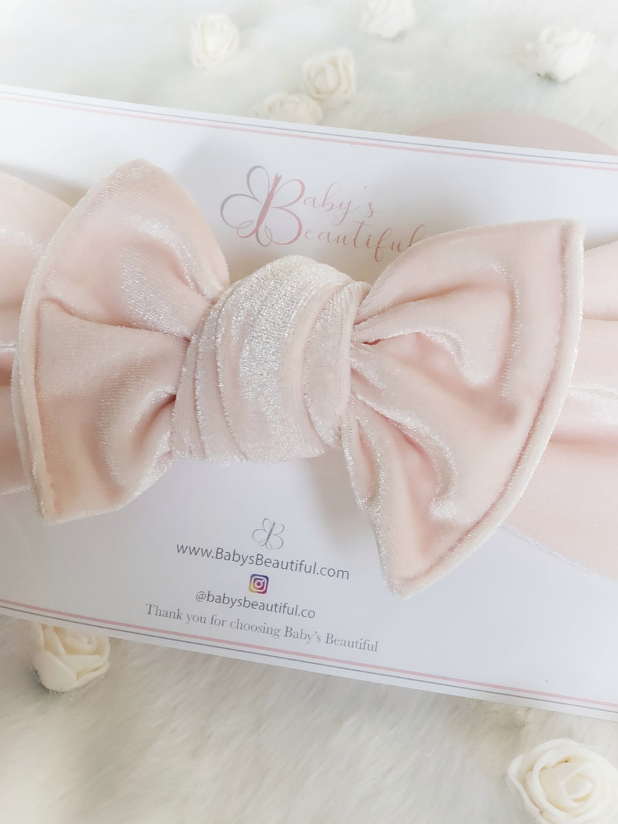NEW Style Velvet Knotted Headwrap - Sweet Pale Pink