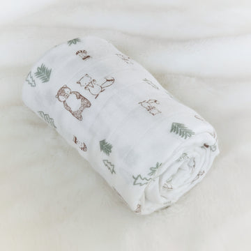 Beautiful Soft Baby Swaddle - Woodland Dreams