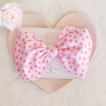 NEW Oversized Sweet Heart Knotted Bow Headwrap