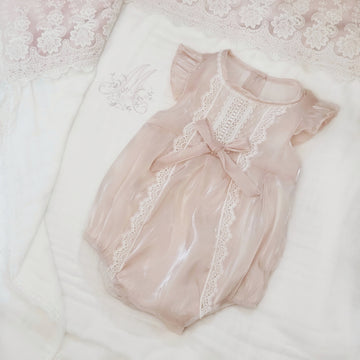 My Sweet Princess Silky Baby Bubble Romper