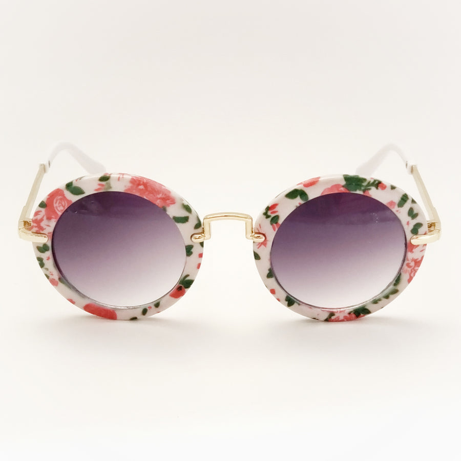 Retro Floral Framed Sunglasses
