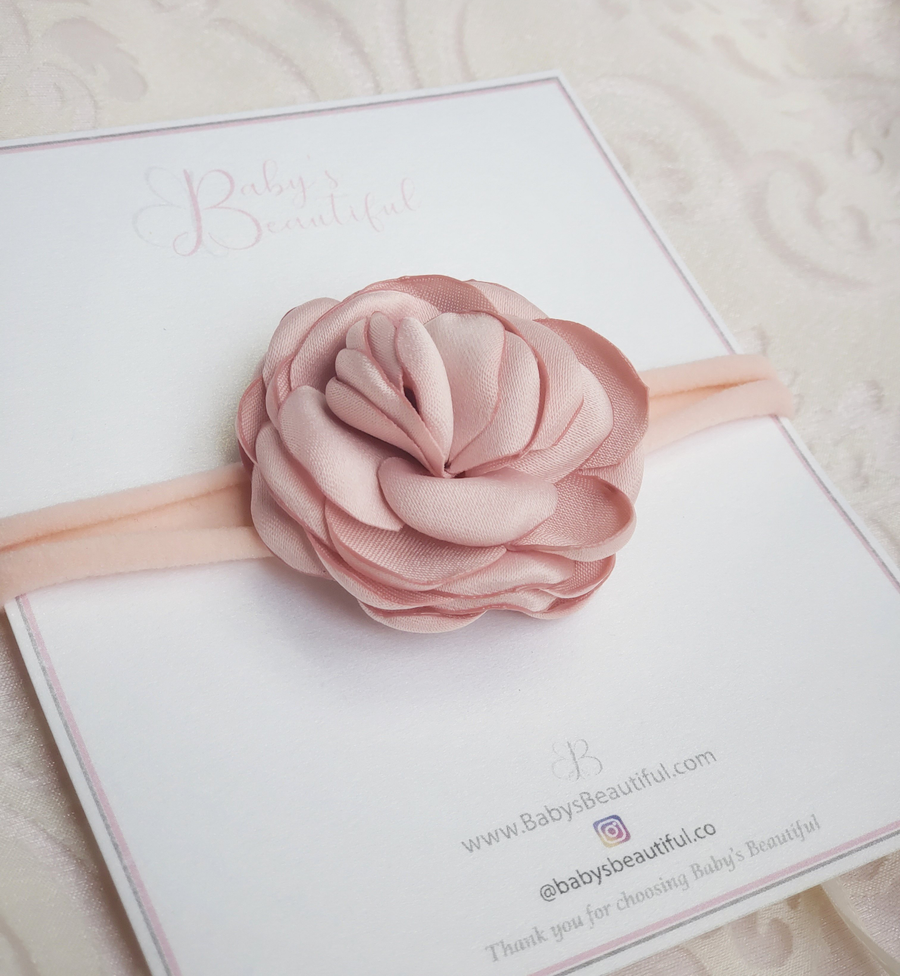 Beautiful Sweet Baby Rose Headband