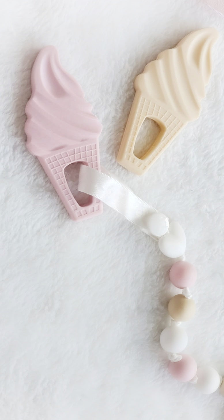 My Ice Creams Teethers (set of two) & Clip