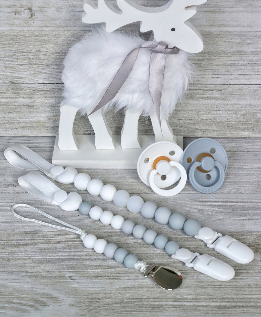 Fresh Snow Pacifier Clips