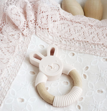 Beautiful Bunny Teething Ring
