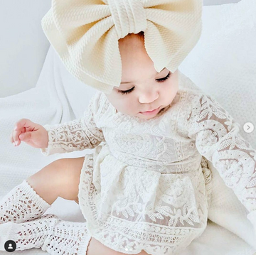 Oversized Bow Headwrap in Cream