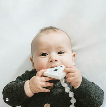 My Little Camera Teether & Teething Clip