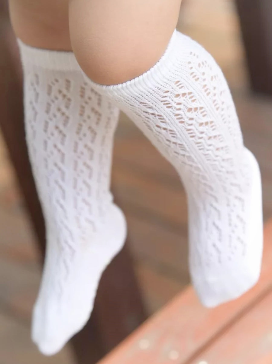 Sweet Cotton Knee Socks for Baby & Toddler - Off White