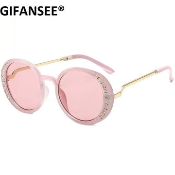 Elegant & Stylish Diamond Accented Sunglasses ~ Pink