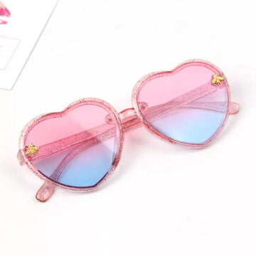 Sweetheart Sunglasses ~ Pink & Blue Crystal Rainbow
